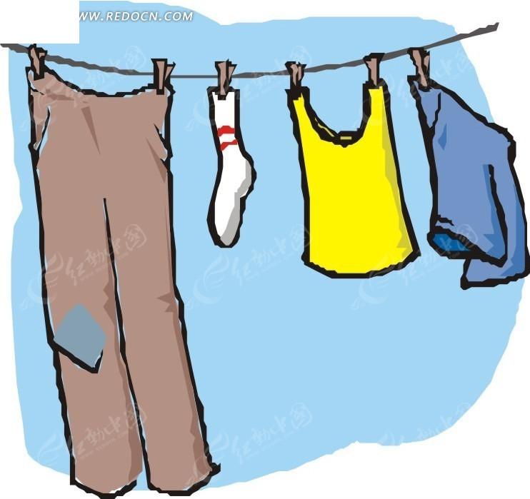 衣服裤子卡通画