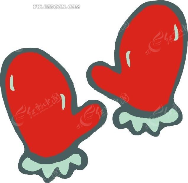 一副红色手套
