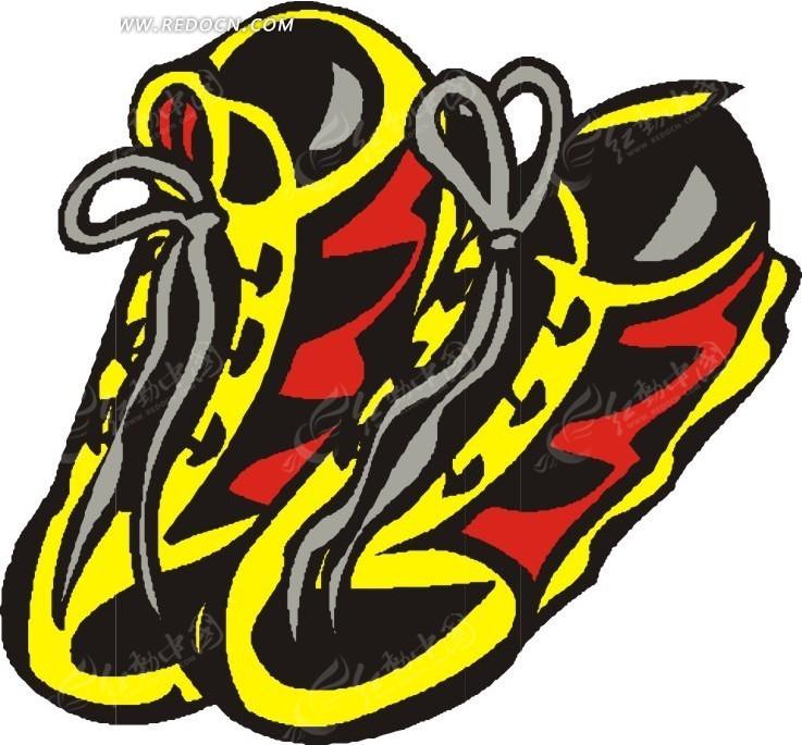 手绘漂亮的鞋子图片