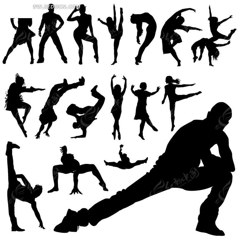跳舞的人物剪影