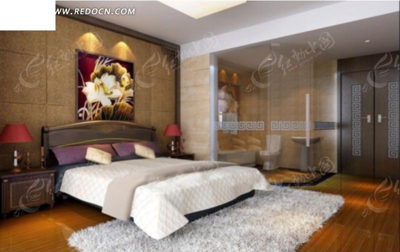 都市风格卧室设计效果图_室内设计