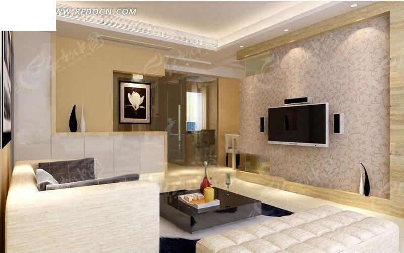 经典时尚客厅装修设计效果图