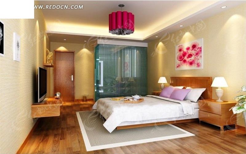 简约质感卧室装修设计效果图