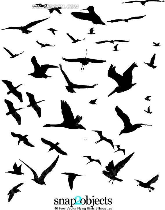 免费素材 矢量素材 生物世界 空中动物 飞鸟剪影  请您分享: 素材描述
