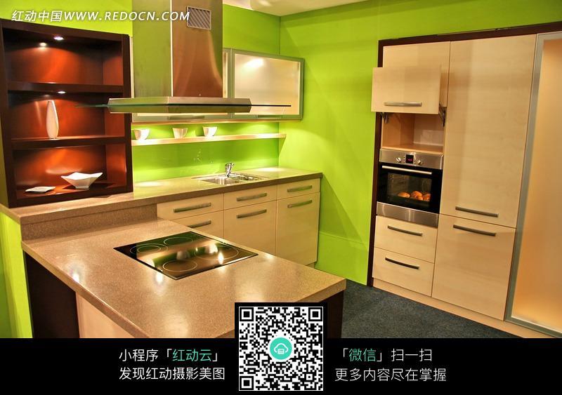 现代简洁厨房设计效果图图片