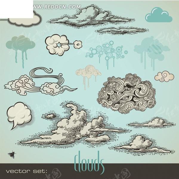 手绘云朵图片