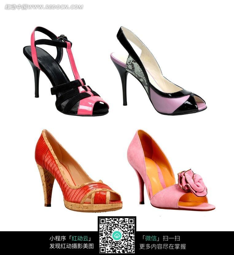 色彩鲜艳的高跟鞋图片