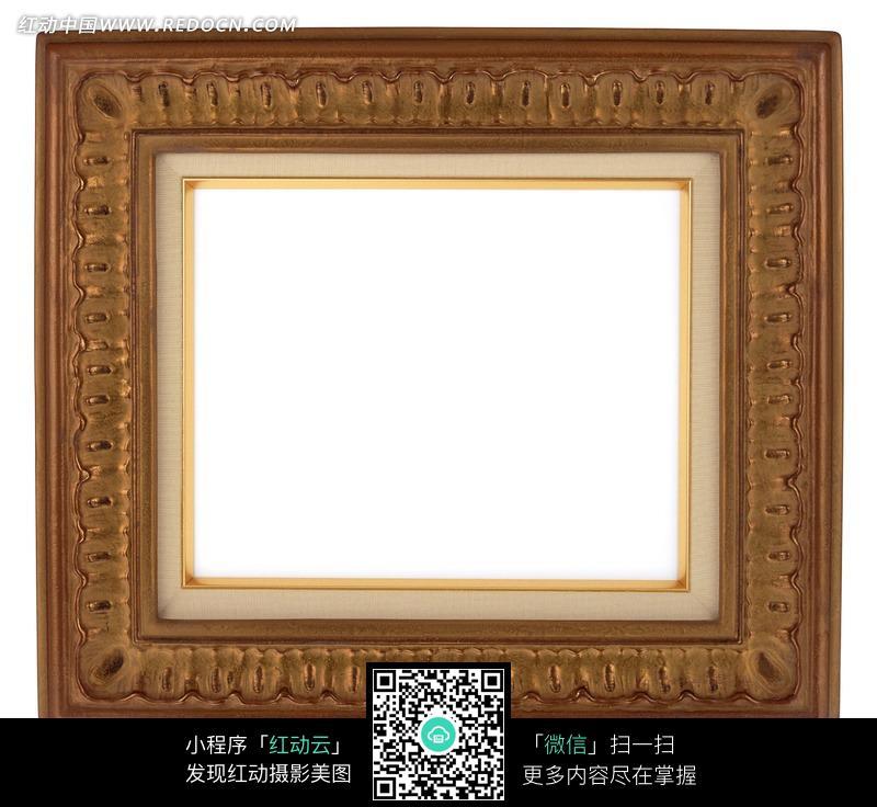 免费素材 图片素材 背景花边 边框相框 咖啡色雕花相框