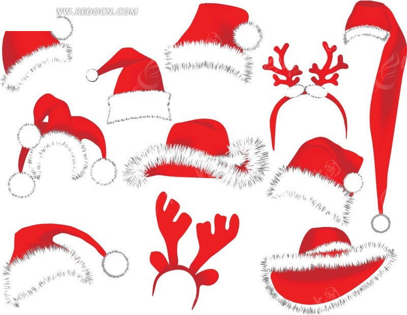 鹿角帽子 圣诞 圣诞夜