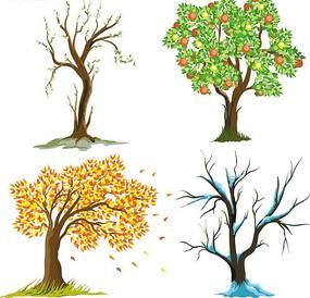 创意卡通树木集