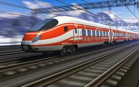 快速行驶的电气列车