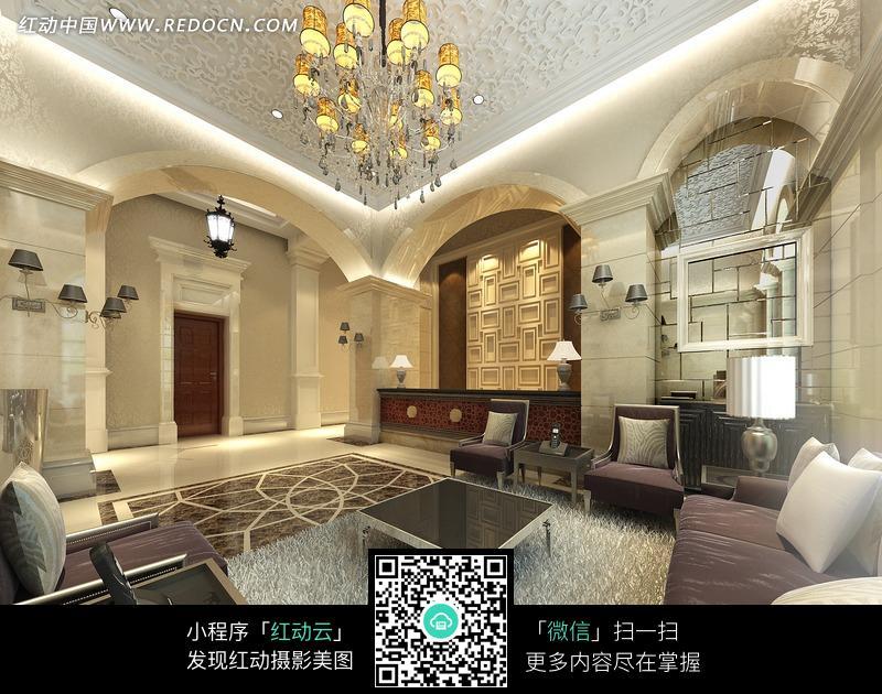华丽的欧式风格酒店大堂图片
