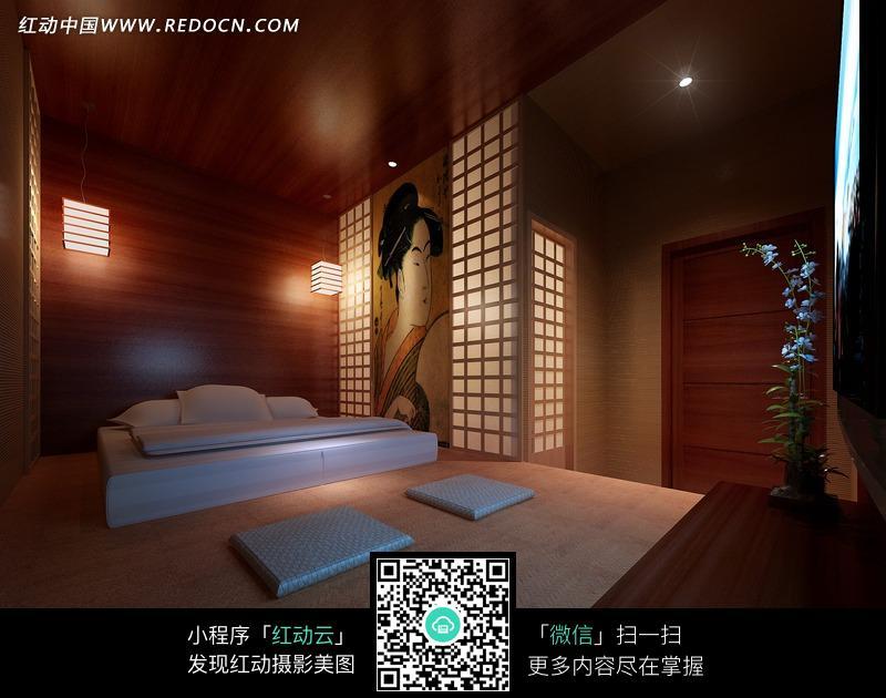 免费素材 图片素材 环境居住 室内设计 日式风格的榻榻米酒店客房  请图片