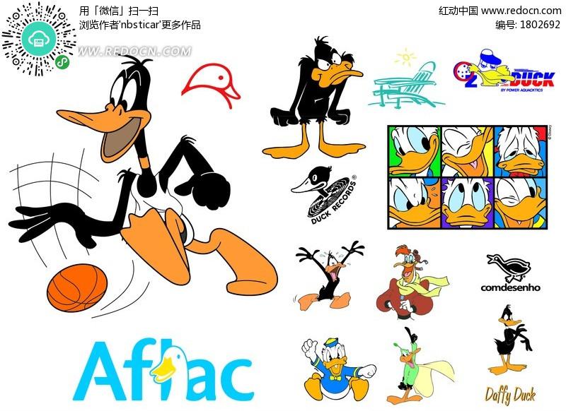 唐老鸭  动漫人物 卡通人物 卡通人物图片 漫画人物 人物素材 人物