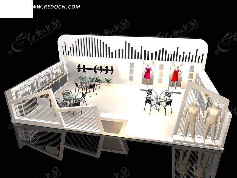 服装3d展厅 展览设计 3d展示造型