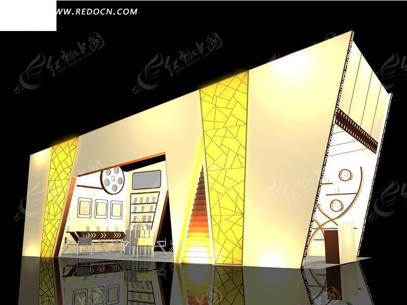 金黄色化妆品展厅3d模型-3D模型下载3D模型生活家3d云设计图片