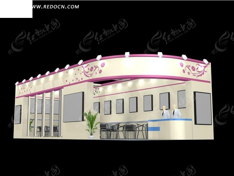 化妆品展厅max智能_展示模型模型景观设计研究生图片
