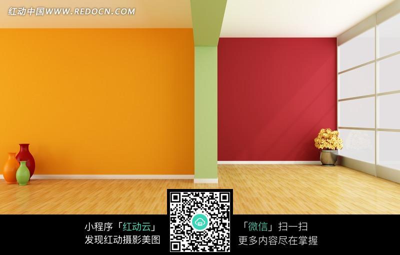 清新简洁室内一角设计图片