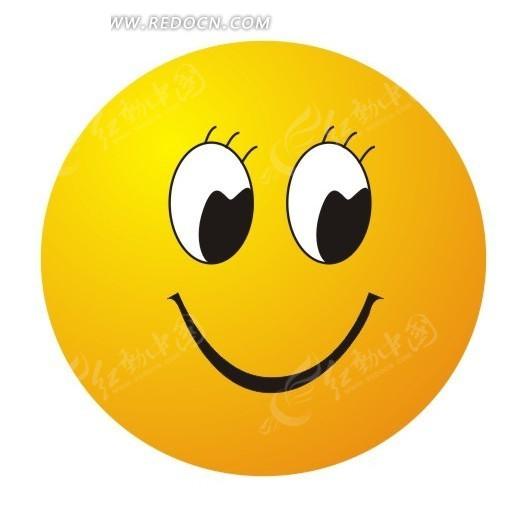 卡通笑脸矢量图cdr免费下载
