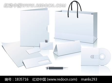 笔名片信纸工作证文件夹vi设计vi模板矢量设计模板