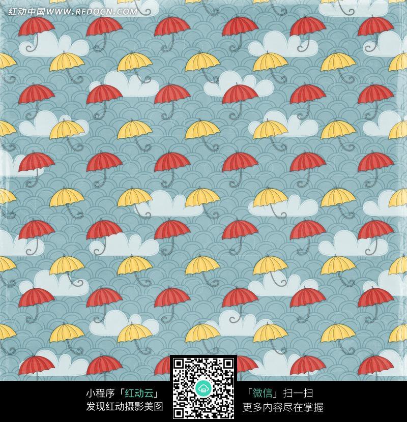 儿童手绘雨伞图案-14;