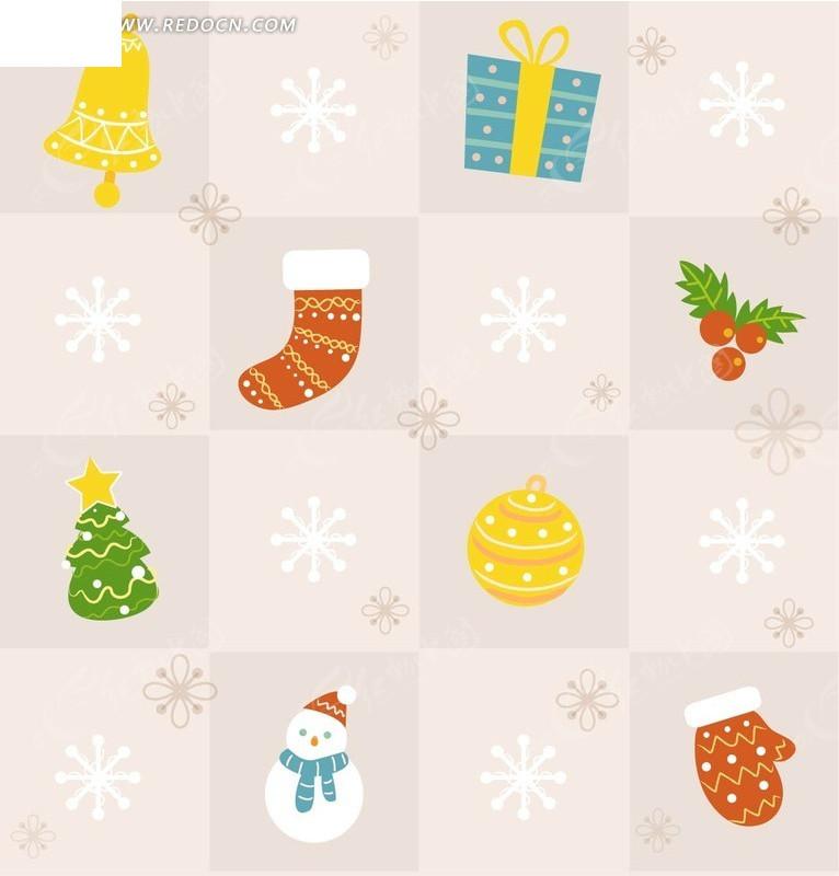 您当前访问素材主题是铃铛雪人圣诞球背景矢量素材,编号是1852302