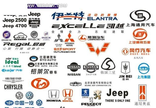 矢量汽车标志大全打包cdr免费下载_行业标志素材