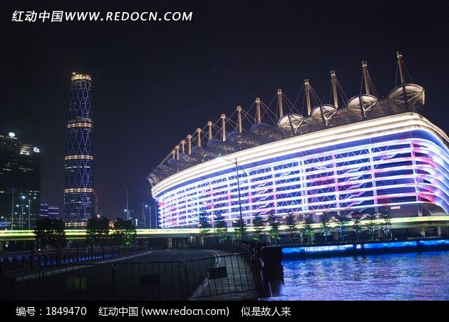 广州海心沙岛夜景图片