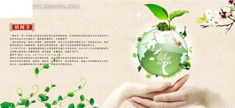 宣传海报 双手托起的地球