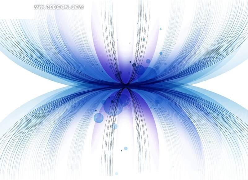 上下对称的蓝色弧线和圆点psd素材 psd花纹背景 编号