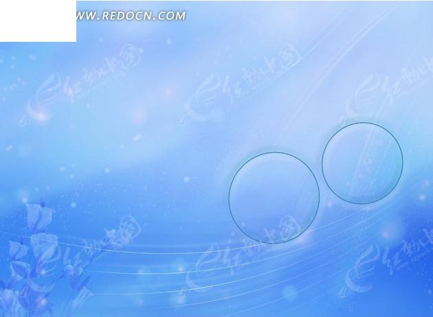 梦幻浅蓝玫瑰花流畅线条背景素材图片