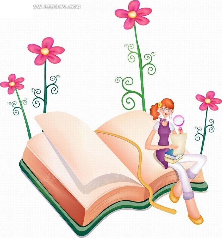 高清偷拍泳装商城的更衣室性粉嫩的女孩138mbmp42501vv_手绘卡通人物坐在鲜花书本上拿着放大镜阅读的美女