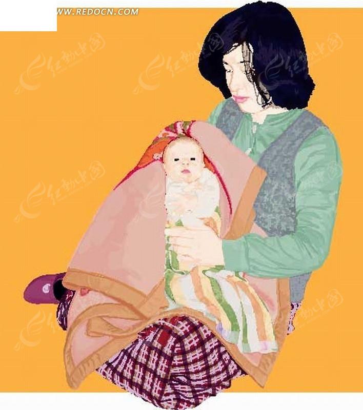 3d母子乱论漫画_> 卡通形象;; 抱着婴儿母亲母子亲子卡通人物.