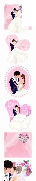 卡通人物 婚纱照男女