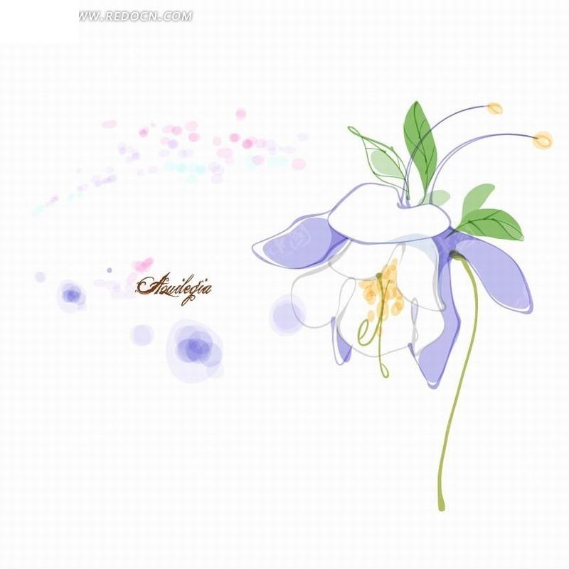 创意花朵花卉矢量插画稿件