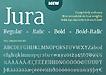 jura英文正文字体