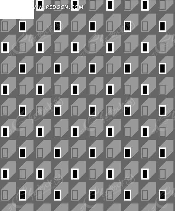 灰色背景立体长方形图案
