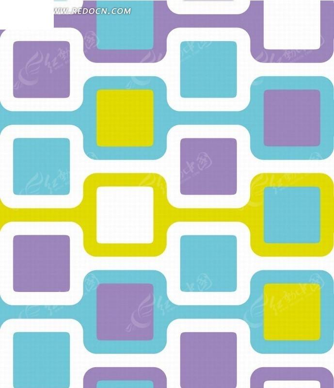 方形和描边线条构成的图案图片