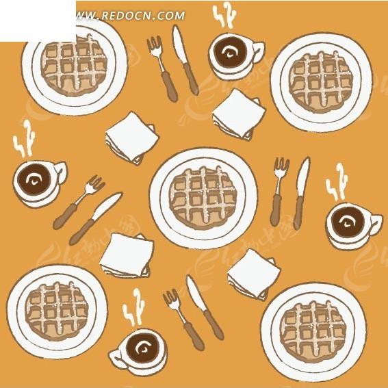咖啡杯 纸杯设计 旋转咖啡杯情调生活视频 欧式风格咖啡杯图案名片 白