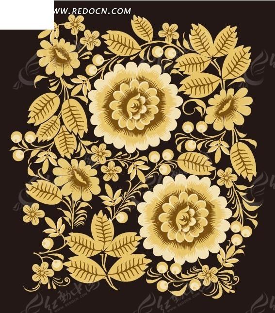 花朵变形图案设计手绘