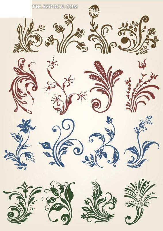 欧式古典 花纹 植物花纹 经典花纹 欧式 藤蔓 花边 底纹 背景素材