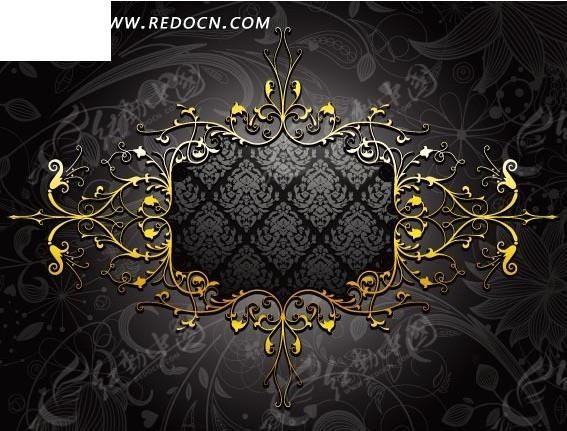 华丽丽的欧式花纹装饰边框矢量图_花纹花边