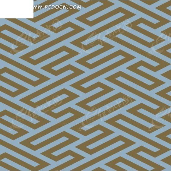 卡其色背景迷宫式几何形图案图片