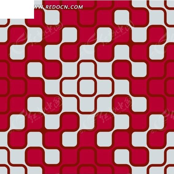 淡蓝色和玫红色圆角方形构成的图案图片