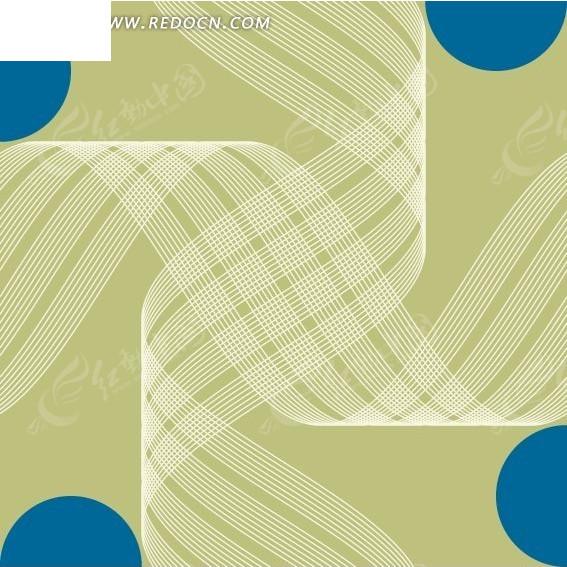 免费素材 矢量素材 花纹边框 印花图案 > 绿褐色背景上的半圆和交织的