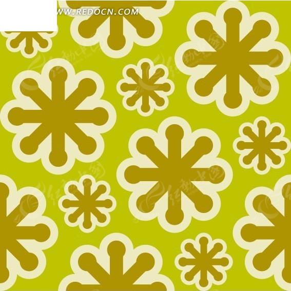 底纹—土黄色雪花构成的图案