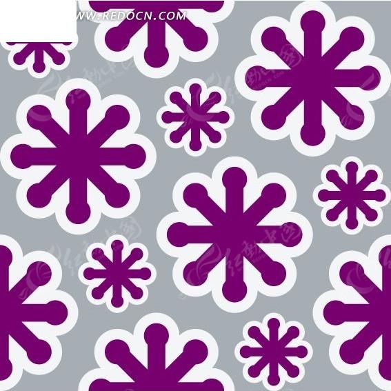 底纹—紫色雪花构成的图案