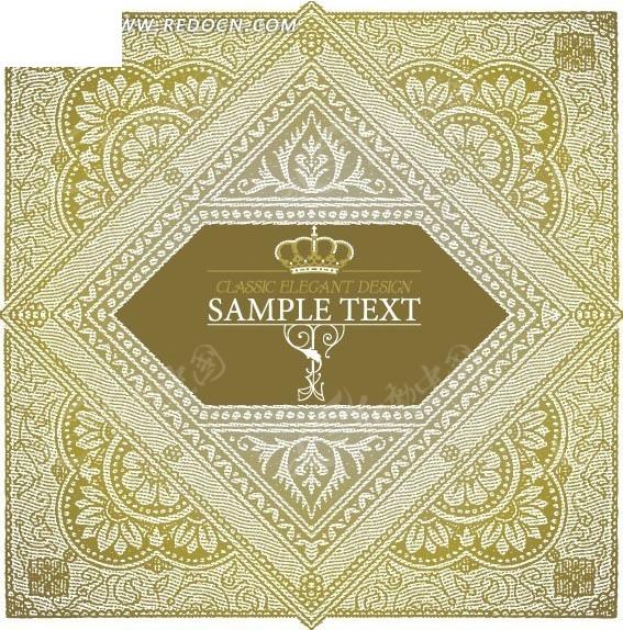 古典欧式花纹边框素材图片