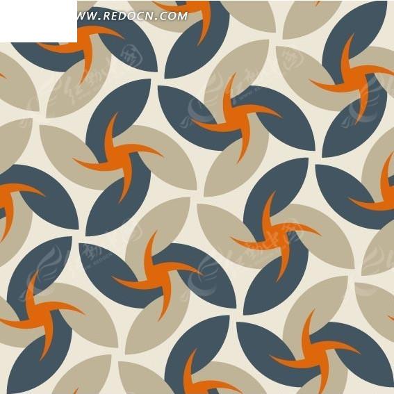 免费素材 矢量素材 花纹边框 印花图案 风车状图形构成的图案