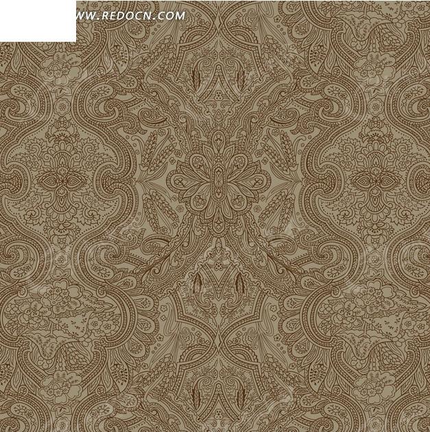 免费素材 psd素材 psd花纹边框 底纹背景 > 棕色背景上的精美花纹构成
